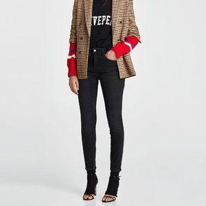 Zara mid-rise skinny black jeans